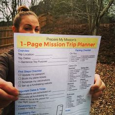 Preparing for a mission trip means keeping track of a lot of details. Our mission trip planner can help. Trip Planner, Travel Planner, Road Trip Hacks, Road Trips, Packing Checklist, Youth Activities, Haiti, First Step