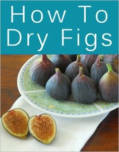 Dried Figs, Fresh Figs, Dried Prunes, Dried Fruit, Fig Recipes, Canning Recipes, Healthy Snacks, Healthy Eating, Healthy Recipes