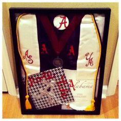 My graduation shadow box from the University of Alabama! ROLL TIDE! Class of 2013! #RollTide #ShadowBox #Graduation #College