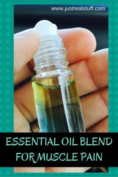 Essential Oil Blend for Muscle Pain. Simple natural remedy using essential oils. www.justrealstuff.com