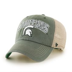 Michigan State Spartans 47 Brand Tuscaloosa Clean Up Adjustable Hat - Low  Prices   Quick Shipping 05db0a9e067a
