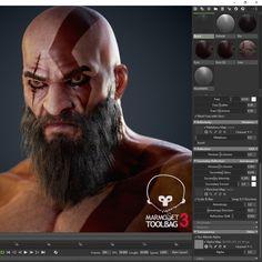 God of War Fan Art : Kratos Bust (+Breakdown)