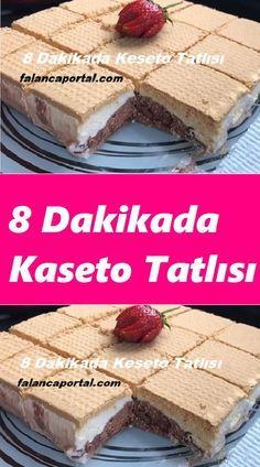 Cassette Dessert in 8 8 Dakikada Kaseto Tatlısı # Is tatlıt recipe recipes - Köstliche Desserts, Dessert Recipes, Red Wine Gravy, Flaky Pastry, Mince Pies, Turkish Recipes, Popular Recipes, Pie Recipes, Cupcakes