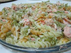 Receitas de massas: Espirais com salmão