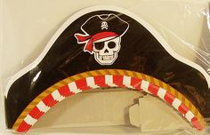 Pirate Paper Hats 8ct by ElsaPartySupply on Etsy