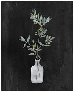 Fontanesia  8X10 art print by KelliMurrayArt on Etsy