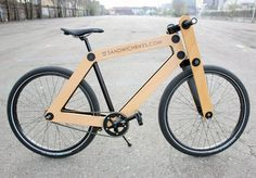 The Sandwichbike | 'A flat-packed wooden bicycle delivered to your door for self assembly' (via @Cool Hunting)