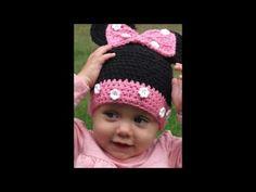 Gorro de Minnie Mouse a crochet - YouTube