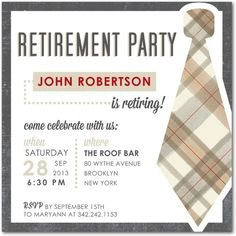 Classy black and white #retirement_party_invitations | Retirement ...