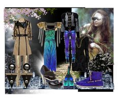 """""""space age fantasy"""" by bluesusie4444 ❤ liked on Polyvore featuring Balmain, Holly Fulton, Burberry, Akong, TRAMP IN DISGUISE, Roberto Cavalli, KRON BY KRONKRON, FANNY AND JESSY, Zara and A-Morir by Kerin Rose"""