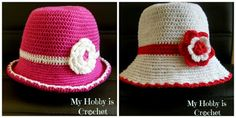 Cotton Summer  Hat for baby/toddler - Free #Crochet  Pattern with photo tutorial