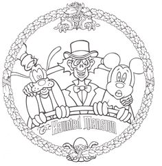 Marvelous Picture of Halloween Coloring Pages Free Halloween Coloring Pages Free Disneyland Rides Coloring Pages Free Disney Halloween Coloring Pages Disney Diy, Walt Disney, Disney Crafts, Disney Parks, Disney Mickey, Haunted Mansion Disney, Haunted Mansion Tattoo, Disneyland Rides, Disney Rides