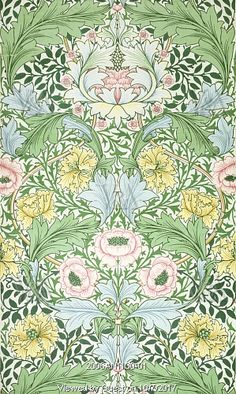 Myrtle wallpaper, by William Morris. England, 1889.