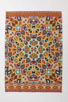 Flutter Pattern Rug-Anthropologie