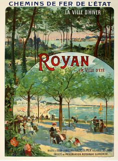 Royan travel poster 1910 -- thanks Remy -- exquisance.com