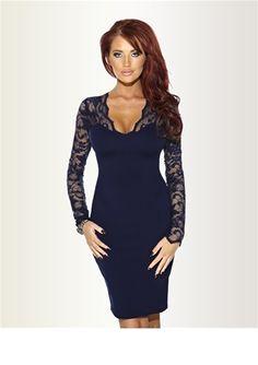 Long sleeved black dress uk