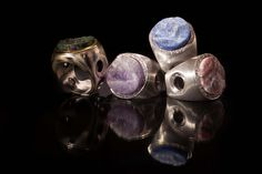 Rings from the Trend Focus collection by Marco Cruz Joalheiro. Pink Quartz, Soft Colors, Lapis Lazuli, Jewelry Collection, Emerald, Amethyst, Jewellery, Rings, Silver