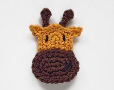 Instant Télécharger - PDF Crochet Pattern - girafe appliques - texte instructions et directives de symbole graphique