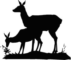 silhouette deer - Google Search