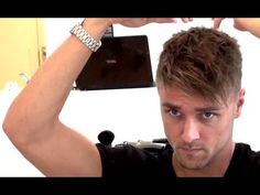 Men's hairstyle tutorial with fringe bangs high texture and a small undercut By Vilain #hairspiration