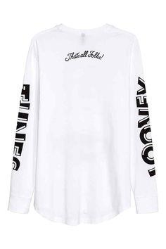 Printed long-sleeved T-shirt   H&M