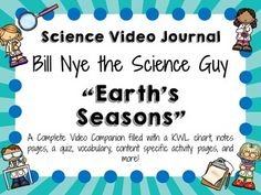A perfect learning companion to the Bill Nye the Science Guy video:Earth's Seasons.  Choose as many or few pages as you need! This lesson can extend your viewing experience for more than one day. All students can complete the same activities, or differentiate by giving students different activities!