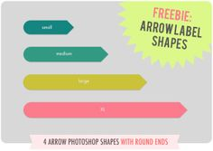 add/customize arrow label shapes via Pugly Pixel - I have been looking for this FOR. EVER.
