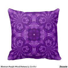 Abstract Purple Wood Pattern Throw Pillows