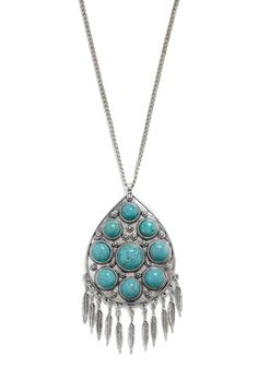 I just love how huge and eye-catching this pendant is. It's just Southwestern enough to be a tiny bit kitschy, but it's not intolerable. Bleubird Necklace from Bleubird Vintage/ModCloth.