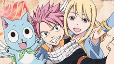 Happy, Natsu and Lucy. :3