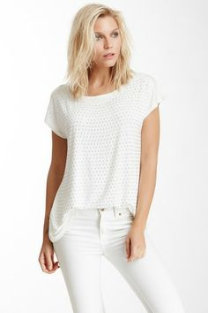 Ivory White Pearl Front Tee by Simply Irresistible on @HauteLook