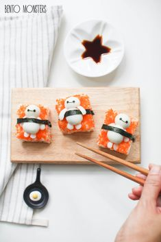 Baymax Sushi. I don't like sushi but this is so adorable.