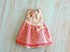 Blythe doll dress OOAK - Precious pink- Grungy-chic outfit