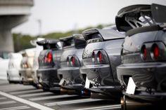 Nissan Skyline line up Nissan Skyline Gtr R32, R32 Skyline, Gtr Nissan, Tuner Cars, Jdm Cars, R33 Gtr, Japanese Cars, Sport Cars, Dream Cars