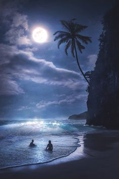 Stunny night photo of the moonrise and milky way by a coastal seascape, natural light landscape photography tips Beautiful Nature Wallpaper, Beautiful Moon, Beautiful Landscapes, Beautiful Beaches, Strand Wallpaper, Beach Wallpaper, Photo Wallpaper, Moon Pictures, Nature Pictures