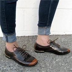 Burnished Cognac Women's Vegan Oxford Shoes