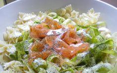 Tagliatelles de courgettes au saumon (trop facile)