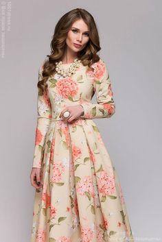Stylish Dresses For Girls, Stylish Dress Designs, Casual Dresses, Modest Fashion, Fashion Dresses, Boutique Maxi Dresses, Mode Abaya, Floral Maxi Dress, Designer Dresses