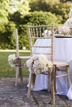 It's Wedding Wednesday and I'm thrilled to be sharing this amazing 'Glamorous Gold Inspiration' photo shoot with you today, arranged by Temple Gregory. Wedding Chair Decorations, Wedding Chairs, Wedding Seating, Dream Wedding, Wedding Day, Wedding Dreams, Floral Chair, Deco Table, Industrial Wedding