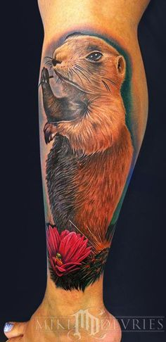 Prairie Dog Tattoo...my husband says he wants to shoot it! But he's cute!