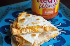 Buffalo Chicken Quesadillas - I don't care for buffalo flavored foods but josh said it was good.