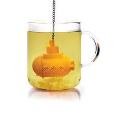 Yellow Submarine Tea Infuser makes the ideal gift for anyone who loves using loose tea! Simply fill your cup or teapot with boiling water and immerse the submarine! The Yellow Submarine Tea Infuser is really effective when using a glass mug or teapot. Yellow Submarine, Tea Diffuser, Design3000, Tea Strainer, Loose Leaf Tea, Mellow Yellow, Colour Yellow, Yellow Art, Tea Time