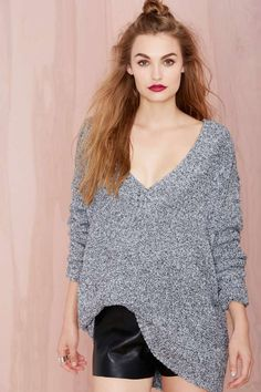 Chunky and comfy sweater, almost a sweater dress. Nasty Gal Lexi Sweater | Shop Sweaters at Nasty Gal