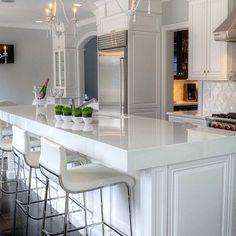 """Loving all white kitchens at the moment."""