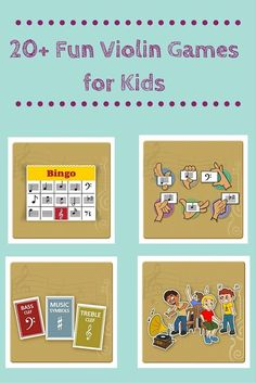 Engage your child or student in learning the violin with these 20+ fun and educational violin games. http://takelessons.com/blog/violin-games-for-kids-z08