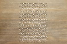 Backgrounds made from mm a white chipboard. 14 cm x 20 cm You can decorate it by paint, stamp, inks, embossing powder and more. Embossing Powder, Chipboard, Laser Cutting, Hearts, Stamp, Decor, Decoration, Decorating, Stamps