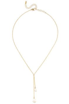 Fresh Perspective Gold and Pearl Drop Necklace at Lulus.com!