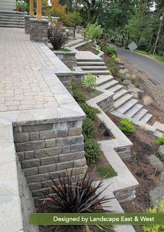 Retaining Wall by Landscape East & West, Clackamas, Oregon