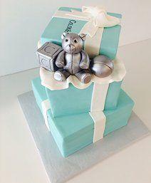Tiffany Box Baby Shower Cake   Gallery   Sugar Divas Cakery   Orlando   Cupcakes   Custom Cakes