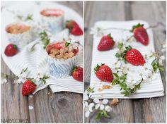 Rhabarber-Erdbeer-Crumble rhubarb strawberry crumble spring ideas Marylicious